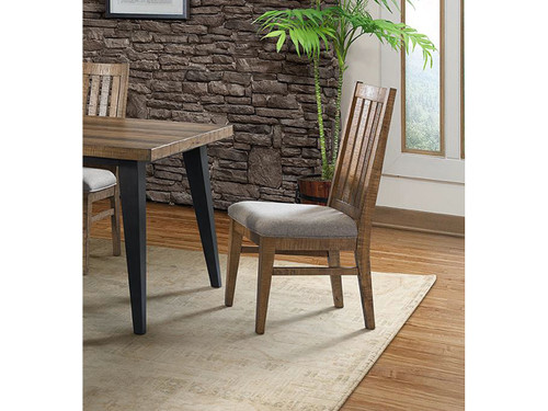 Urban Rustic slat back chair