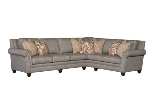 9000 Fabric or leather Sectional with nailhead