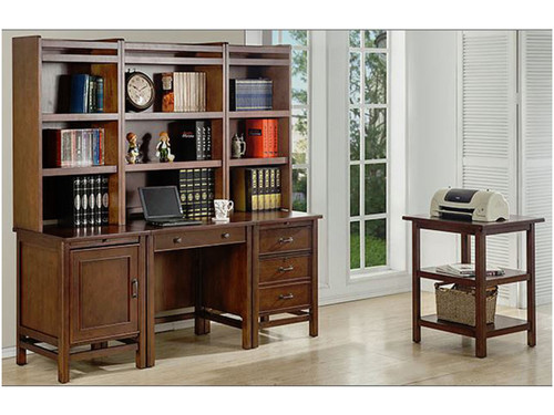 Willow Creek Modular desk - Cherry wood. Each piece can be used as part of modular desk configurations, and can be custom ordered to suit your individual needs, or pieces can be used as a stand alone piece of furniture