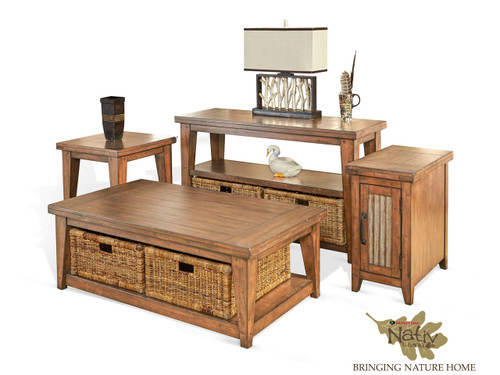 Mossy Oaks Light Storage Tables with baskets