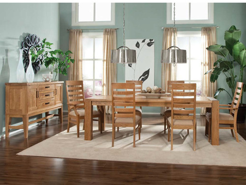 Grand Lodge- Solid Oak Table and Chair set Side board available