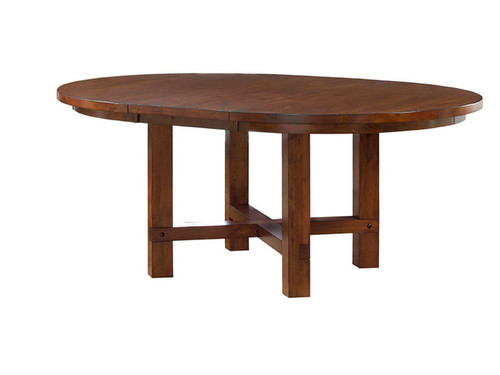 "54"" Round Star Valley Table (shown with 18"" leaf)"