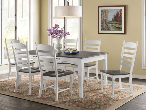 "Belgium Farmhouse 72"" Dining table with chairs"