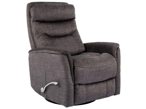 Gemini Titanium Swivel Recliner with adjustable headrest. Manual recliner with long handled Assist lever.