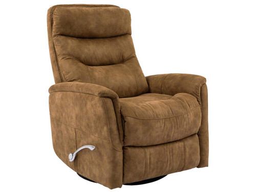 Gemini Autumn Swivel Recliner with adjustable headrest. Manual recliner with long handled Assist lever.