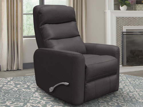 Hercules Manual Recliner - Haze with adjustable headrest. Manual recliner features long handled Assist lever.