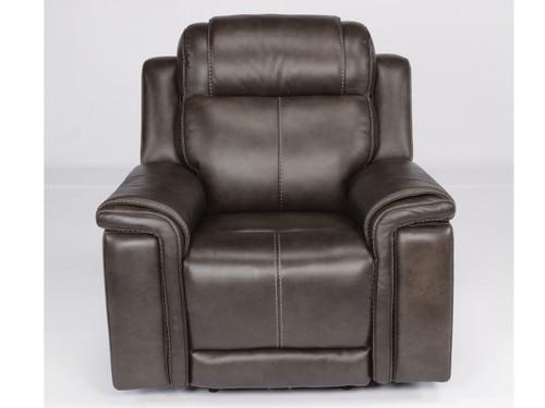 Kingsley 3rd generation power recliner in gray. Power Recline. Power Headrest. Power Lumbar.