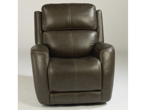 Zelda Leather Power Recliner Dark Gray. Power Headrest. Power Lumbar. 2 Leather color options or 1 Fabric option.
