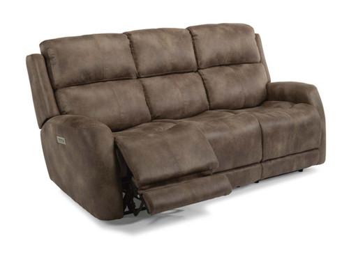 Zelda Fabric  Power Reclining Sofa. Power Headrest. Power Lumbar. 2 Leather color options or 1 Fabric option.