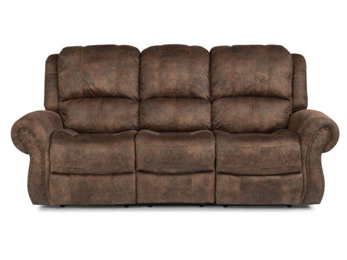 Patton Fabric Reclining Sofa : 3rd generation with power recline, power adjustable headrest and power adjustable lumbar support