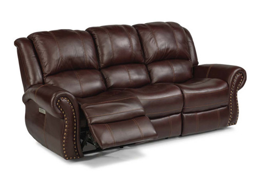Patton Burgundy Leather Reclining Sofa