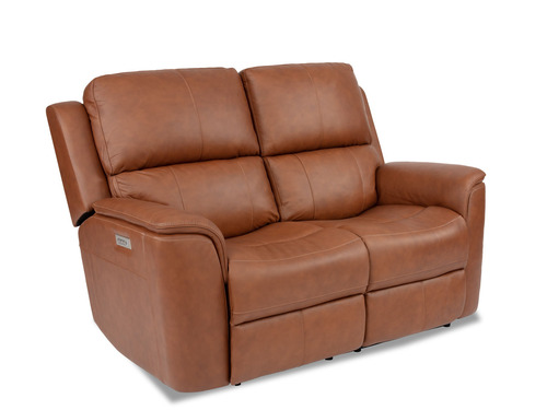 Henry Zero Gravity Leather Reclining Love Seat With Power Lumbar-