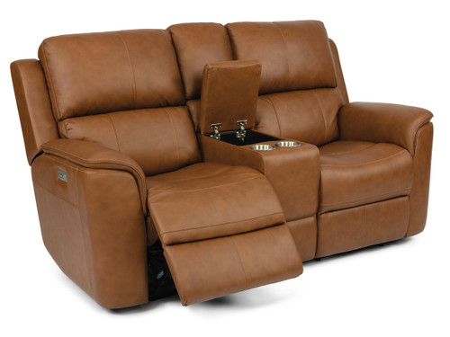 Henry Zero Gravity Reclining Love Seat with Console:  Power Lumbar-