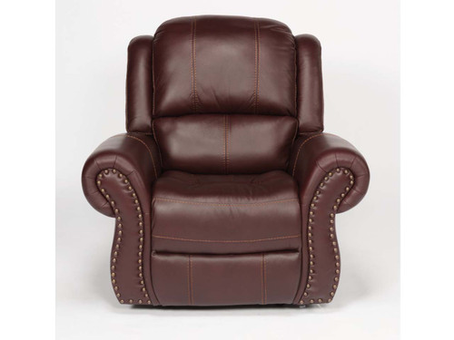 Patton Leather Recliner : 3rd generation with power recline, power adjustable headrest and power adjustable lumbar support