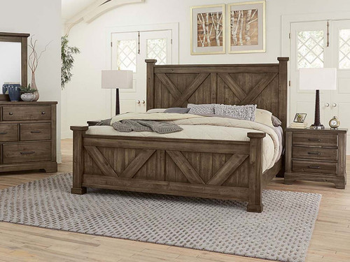 X Panel Bed in Mink