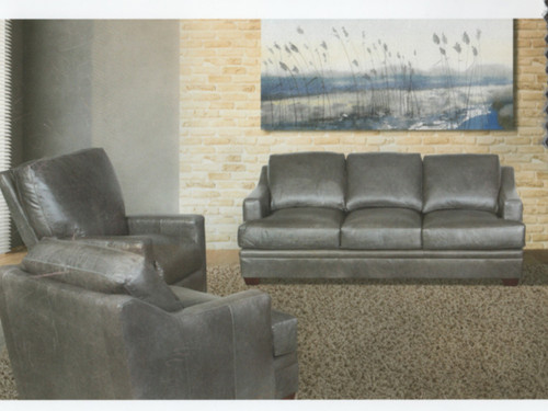 Available as Sofa, Love Seat, Chair, Ottoman, or Power Recliner. All leather.  Hand crafted in Utah
