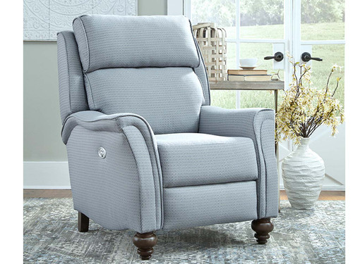 Easton Power recliner with Massage, heat, adjustable power lumbar and headrest features. Can be custom ordered in fabric or leather.