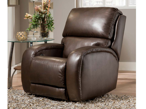 Fandango Power recliner with Massage, heat, adjustable power lumbar and headrest features. Can be custom ordered in fabric or leather.