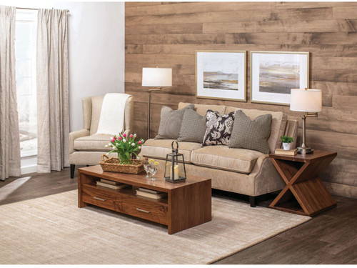 Wildwood Coffee table and X Base End table in Walnut