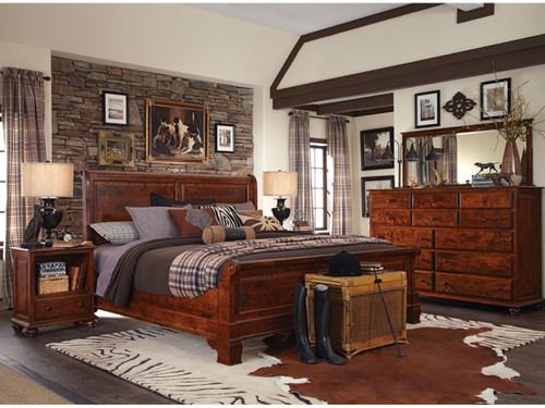 Imperial Bedroom Collection with Olde World Distressing