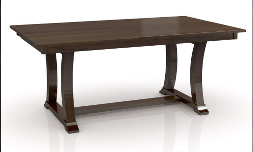 """ALexandria Trestle Table-   Quick Ship 42 x 80"""" table with 2-18"""" butterfly leaves on each end. Leaves self store in drawers at end of table"""