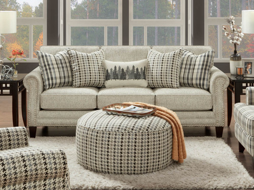 Sofa with accent pillows Paperchase Berber fabric is a revolution Fabric