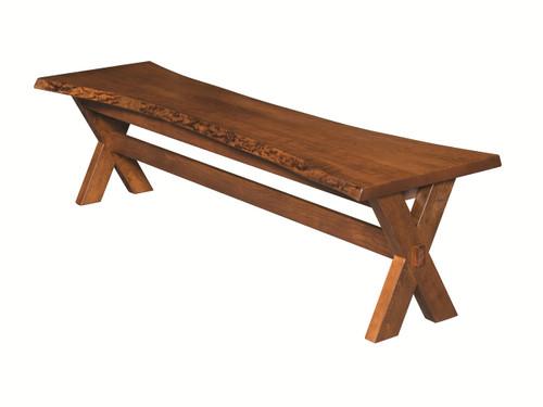 Xander Live edge bench