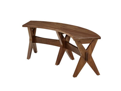 Henning curved bench