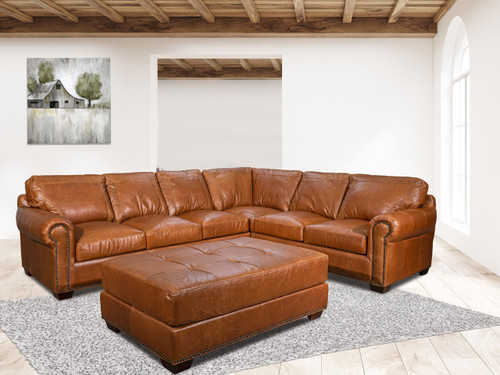 4955 Leather Sectional