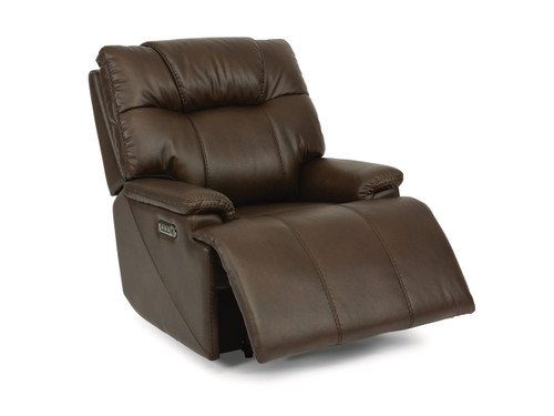 Garrett Zero Gravity Recliner-  shown semi-reclined with footrest partially out