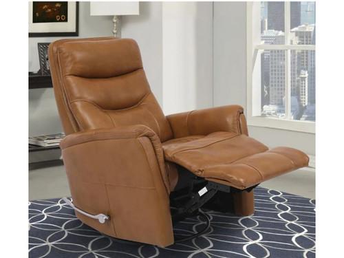 Butterscotch leather recliner