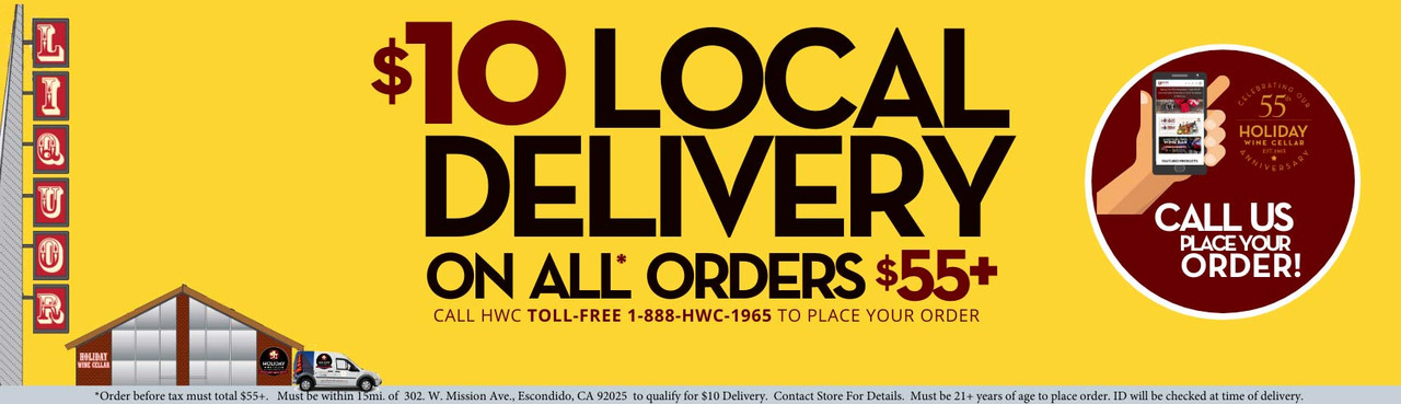 $10 LOCAL Delivery on all orders $55+ Call HWC for full details!