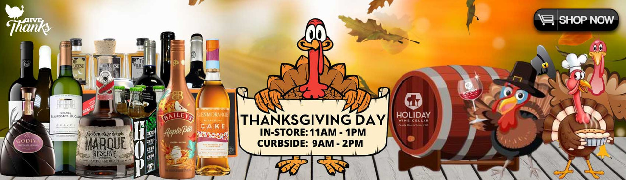 We're Thankful & Open Thanksgiving for last minute purchases until 2PM.
