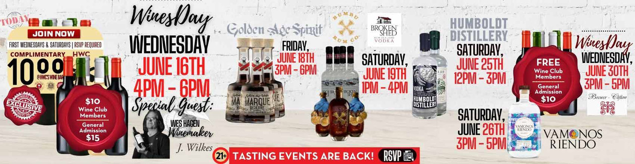 Wine Tastings and FREE sips with Spirits Brands - Sip & Shop At HWC - We Make Shopping Tasty!