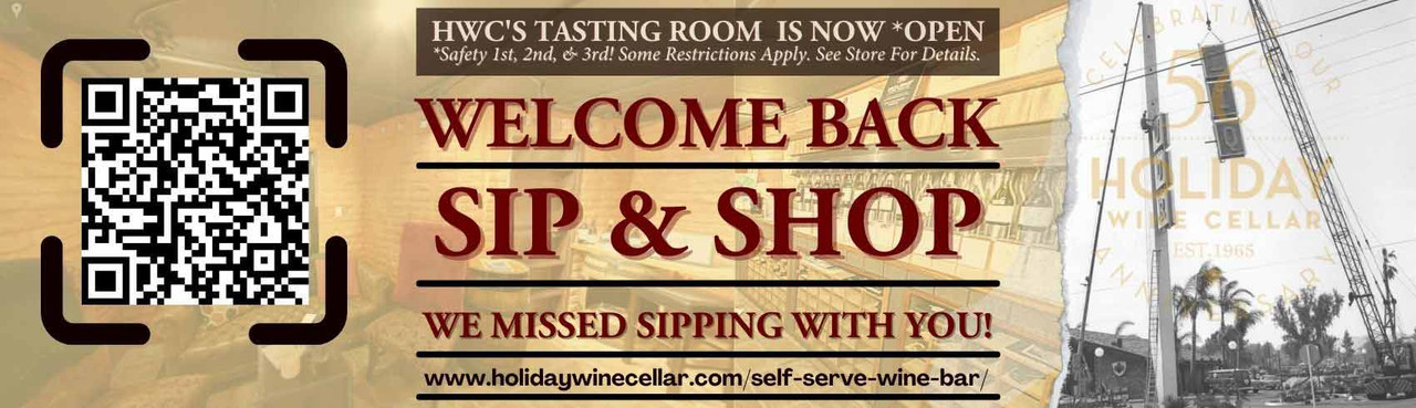 Come Sip With Us!  Buy your beer & wine upstairs & Enjoy Downstairs!