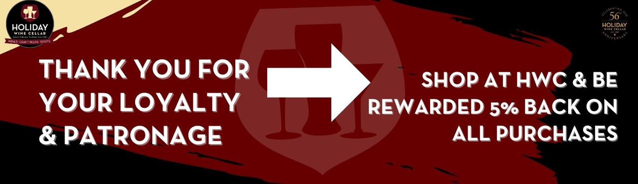 Holiday Wine Cellar Rewards Loyalty - Receive 5% Back On All Purchases