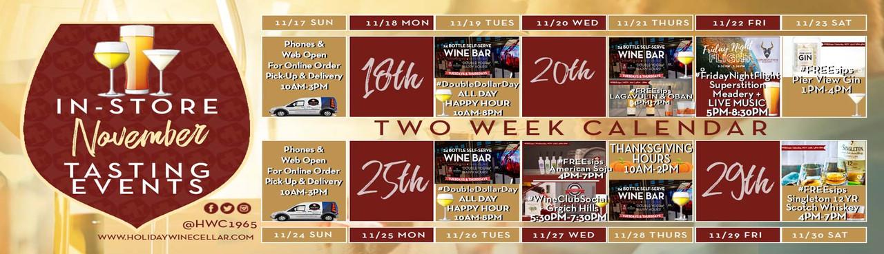 2 Weeks Events Calendar