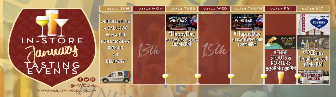 This Week's Tasting Events at HWC