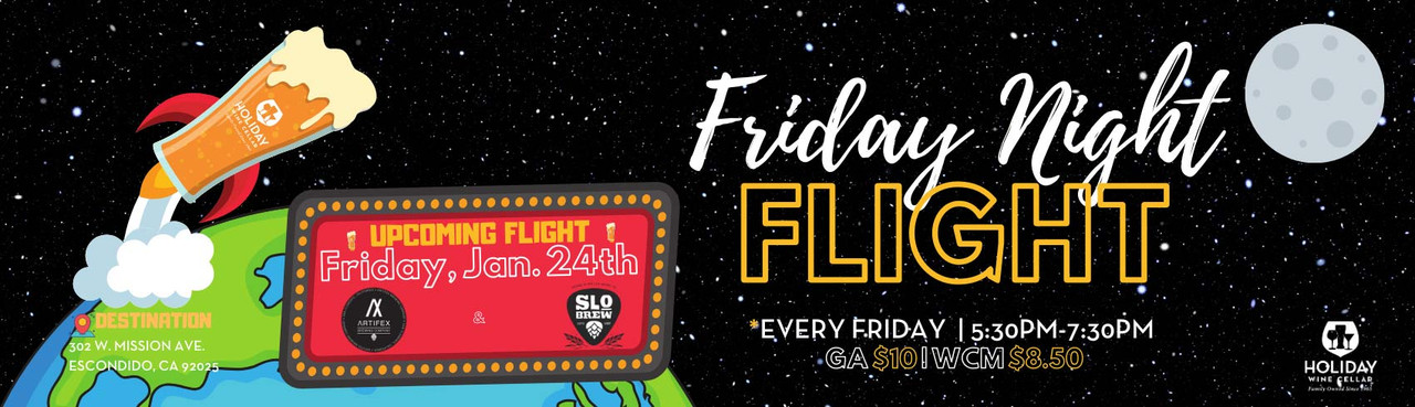T.G.I.Friday Night Flight on January 24th from 5:30-7:30