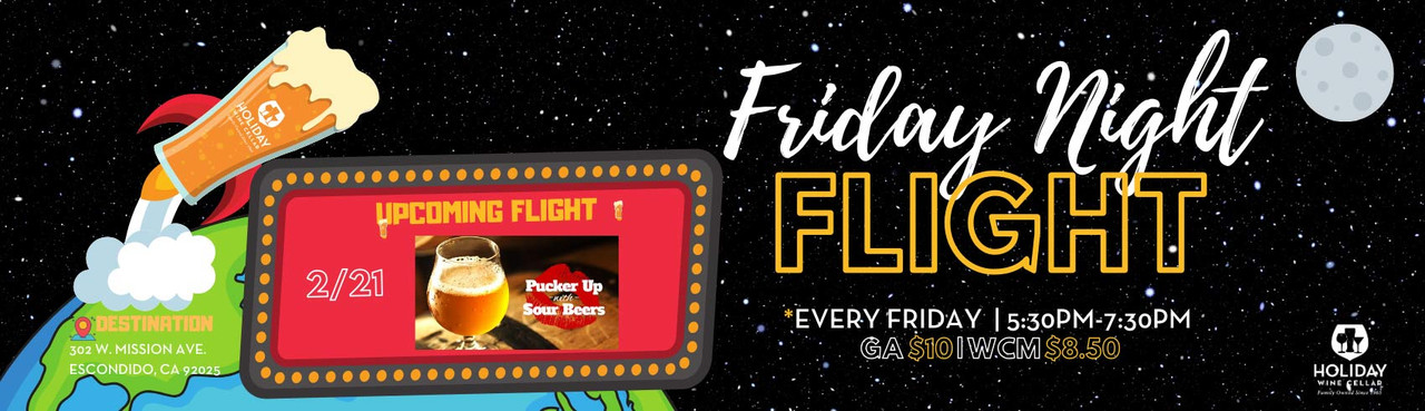Pucker-Up with Sour Beers at this week's Friday Night Flight!
