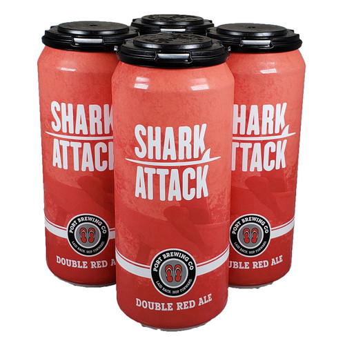 Port Brewing Shark Attack Double Red Ale 4-Pack Can