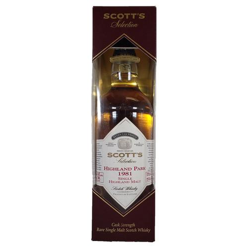 Scott's Selection 1981 Highland Park Single Malt Scotch Whisky