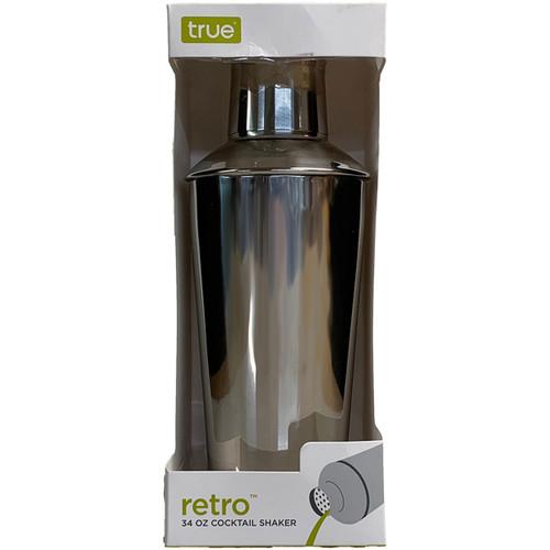 Retro Steel Cocktail Shaker 34OZ