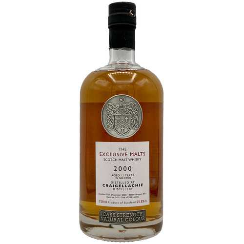 The Exclusive Malts Craigellachie 2000 Single Malt Scotch