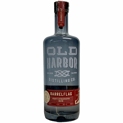 Old Harbor Barrel Flag Navy Strength Rum