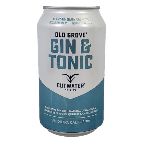 Cutwater Old Grove Gin & Tonic Ready-To-Drink 4-Pack Can