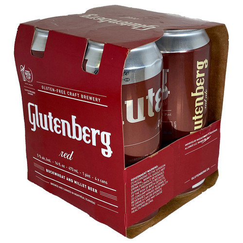 Glutenberg Gluten Free Red Ale 4-Pack Can