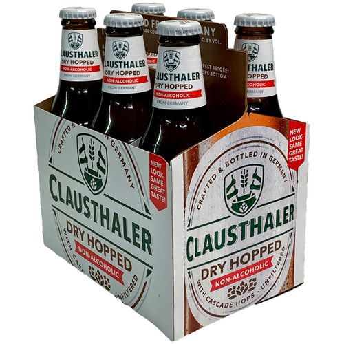 Clausthaler Dry Hopped Amber Non Alcoholic Beer 6-Pack