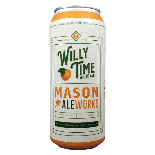Mason Ale Works Willy Time White Ale Can
