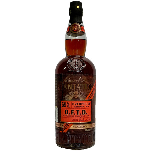 Plantation Old Fashioned Traditional Dark Overproof Dark Rum
